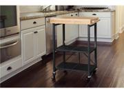 Origami Foldable Island Kitchen Cart with Black Frame