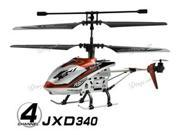 "JXD 340 Mini 4 CH Drift King 8"" RC Helicopter w/Gyro RTF - Red"