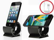 Sinjimoru Aluminum Sync Stand Dock Cradle for iPhone 6, 6 Plus, 5S, 5C, 5, 4S, 4, iPod Touch (Color: Black)