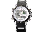Shark Porbeagle Collection SH041 Men's White Dial Dual-Time Chronograph Watch