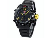 SHARK Mens LED Date Day Digital Black Dial Sport Amry Quartz Wrist Watch