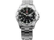 Shark Army Mens Date Day Luminous White Silver Military Sport Quartz Watch + Box