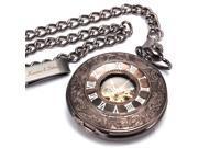 KS White Skeleton Hand-Winding Mechanical Pendant Analog Awesome Pocket Watch KSP005