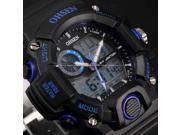 Timebear Blue Waterproof Analog-Digital LCD Alarm Date Mens Military Sport Wrist Watch OHS218