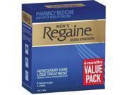 Regaine Men's Extra Strength Solution 4 months 4x60mL