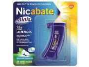 Nicabate Mini Mint Lozenges 1.5 Mg 20s