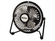 Mini High Velocity Personal Fan, One Speed, Black