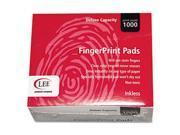 Inkless Fingerprint Pad, 2-1/4 x 1-3/4, Black, Dozen