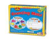 Counting Mats Kit, 10 Two-Sided Mats, 60 Foam Fish, Crayons, Grades K-1