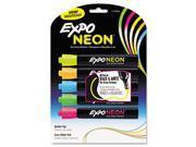 Neon Dry Erase Marker, Bullet Tip, Assorted, 5 per Pack 9SIA25N0XP6571