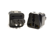 OREI 2 in 1 USA to Italy Adapter Plug - 2 Pack, Black