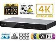 PANASONIC DMP-BDT270 2K/4K Multi Region All System Blu Ray Disc DVD Player - PAL/NTSC - 2D/3D - Wi-Fi - 100~240V 50/60Hz World-Wide Use & 6 Feet HDMI Cable 9SIA25P4A28058