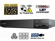 Sony BDP-S1500 Multi Region Blu-ray DVD, Region Free Player 110-240 volts, HDMI Cable & Plug Adapter Package 9SIA25P4J60802