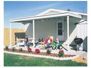 ARROW SHEDS ASIPC1020 MULTIBOX=1 COMPLETE SKID DO NOT BREAK STORAGE PATIO COVER ATTACHED 10FT X 20FT