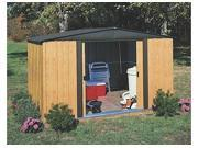 ARROW SHEDS ASIWL108 WOODLAKE 10FT X 8FT STEEL COFFEE and WOOD GRAIN- DOOR=W55.5IN X H60IN 9SIA25V3VS4129
