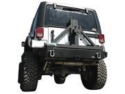 PARAMOUNT RESTYLING PMT51 0325 07 14 JEEP WRANGLER JK X1 REAR BUMPER W TIRE CARRIER