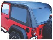 RAMPAGE RAM106035 07-14 WRANGLER 4DR FRAMELESSTRAIL TOP KIT (SOFT TOP, DOOR SURROUND, HEADER CHANN