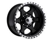 ULTRA WHEEL U121756882B Wheel: Ultra; Rouge; Gloss Black; 16 - 8; 8 - 6.5 Bolt circle