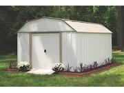 ARROW SHEDS LX1014 LEXINGTON 10FT X 14FT STEEL EGGSHELL and TAUPE- DOOR=W55.5IN X H60IN LX1014 9SIV04Z4Y98919