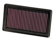 Airaid K33332375 Air Filter: 2007 Nissan Versa 1.8L; Replacement Air Filter; Panel Air Filter style 9SIV04Z5627621