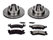 POWERSTOP PSBK2580 FRONT 1 CLICK BRAKE KIT W HARDWARE