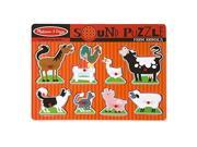MELISSA & DOUG 726 FARM ANIMALS SOUND PUZZLE 9SIA25V5GV1283