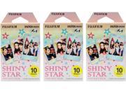 FUJIFILM SHINY STAR 3PK KIT#1 INSTAX MINI SHINY STAR FILM