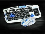 CityForm 8100 Ergonomic Gaming Keyboard + 2.4GHz Cordless Gamer Gaming Mouse Set