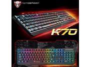 MotoSpeed K70 Colorful Illuminated Backlight Usb Wired Gaming Backlit Keyboard