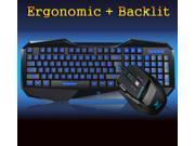 Aula BEFIRE Blue-Ray Backlit Gaming Keyboard + 7D 2000DPI Usb Gaming Mouse SET
