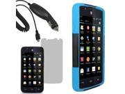 Hybrid Hard Shell Stand Case For ATT Huawei Tribute Fusion 3 LCD Car Charger