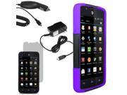 Hybrid Hard Shell Stand Case For ATT Huawei Tribute Fusion 3 LCD Car Home Charger