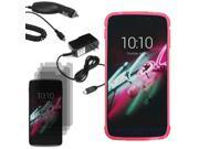 """Crystal TPU Skin Case Fr Alcatel OneTouch Idol 3 5.5"""" 3x Screen Car Home Charger"""