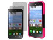 Hybrid Protector Hard Shell Stand Case Huawei Raven LTE H892L x 2 Screen Film