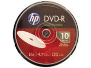 HP DM16WJH010CB 4.7GB 16x Printable DVD Rs 10 ct Cake Box Spindle