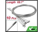 10 Pcs 1.77M Length Bike Replaceable Cycling Rear Brake Cable