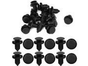 15x Nylon Trim Boot Push in Rivets Retainer Clip 9mm Hole New