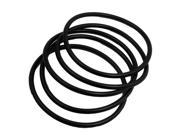 5 x Black Industrial Flexible Rubber O Ring Seal Gasket 100mm x 5mm