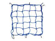 Unique Bargains 38cm x 38cm Motorcycle 6 Hooks Hold Down Fuel Tank Luggage Net Mesh Bungee Blue 9SIA27C5CG6163