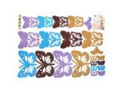 Living Room Decor Butterfly Pattern Removable Wall Decor Sticker Wallpaper Decal