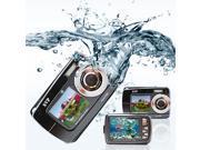 SVP AQUA Underwater 18MP Digital Camera + Camcorder w/ Dual LCDs Display (Black)
