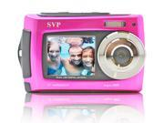 SVP AQUA Underwater 18MP Digital Camera + Camcorder w/ Dual LCDs Display - Pink