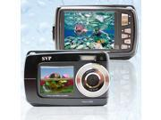 SVP AQUA Underwater 18MP Digital Camera + Camcorder w/ Dual LCDs Display + 8GB MicroSD (Black)