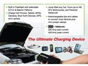 InteliCharge X1 13600mAh Portable Power Bank / Tire Compressor and Car Multi-function Jump Starter