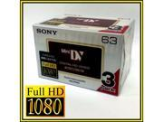 Sony HD HDV tape DVM 63HD Mini DV 4 HDR HC9 camcorder tapes 3 PACK