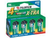 Fuji Superia X-TRA ISO 400 ASA 35mm Film/ 24 Exp-4 Pack