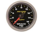 Auto Meter 8626 Pro-Comp Pro Brake Pressure Gauge