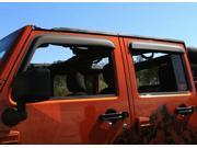 Rugged Ridge 11349.12 Window Visors Matte Black 07-14 Jeep 4-Door Wrangler