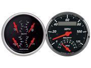 Auto Meter 1409 Designer Black Quad Gauge/Tach/Speedo Kit