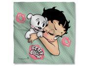 Betty Boop Goodnight Kiss Poly 22X22 Bandana White One Size 9SIA00Y5TR3424